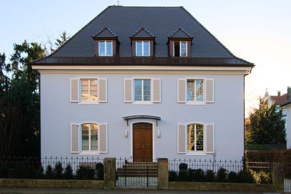 Freiburg Villa wohnen bestand architekturbüro fischer