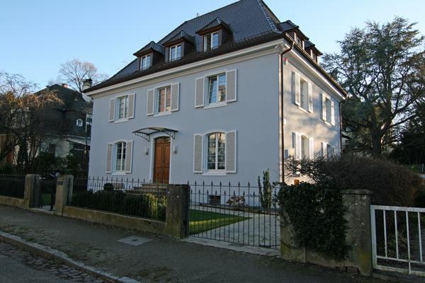 Villa Freiburg wohnen bestand architekturbüro fischer